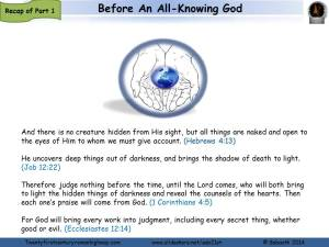 before an all knowing God