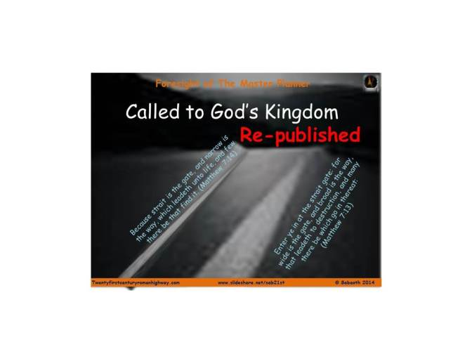 Called to God's Kingdom – Part 1
