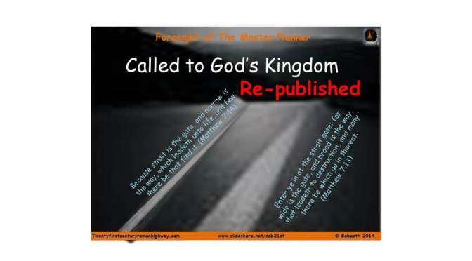 Called to God's Kingdom – Part 2